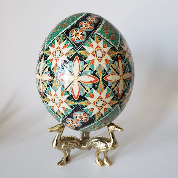 ostrich egg pysanka for sale