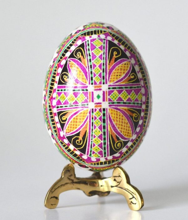 Religious Christmas Gifts.Christmas Ornament Pysanka Egg With Cross Religious Gifts
