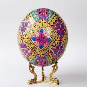 ukrainian easter egg Ostrich pysanka for sale