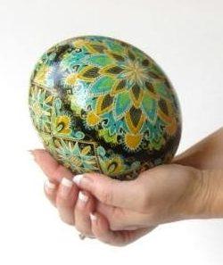 ostrich egg pysanky