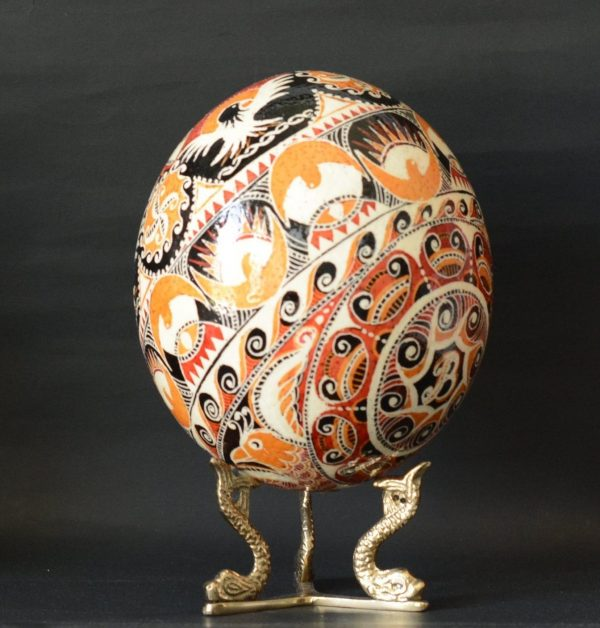 ostrich egg pysanka