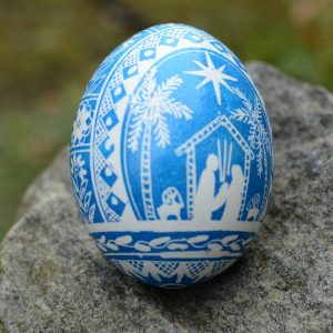 nativity egg ornament