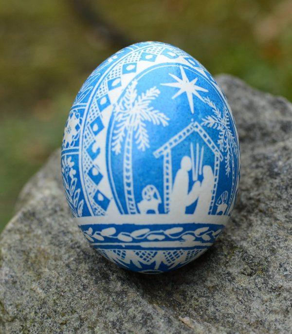 nativity egg ornament