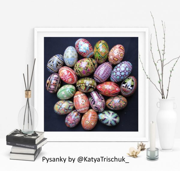 pysanky poster goose pusanka egg design by Katya Trischuk